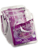 Pleasure Cupz Vibrating Nipple Massagers Purple 12 Per Bowl