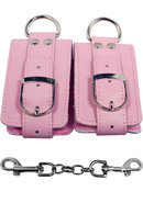 Strapped Plush Restraints Pink