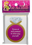 Bride To Be`s Bar Dare Stickers