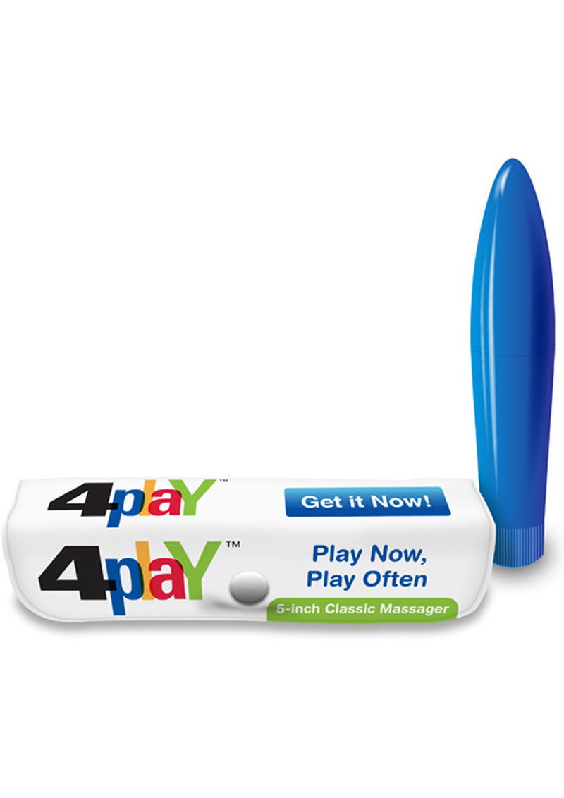 4 Play Massager 5 Inch Blue