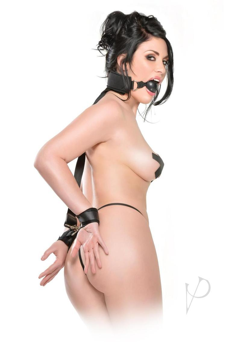 Fetish Fantasy Series Gag And Wrist Restraint Black