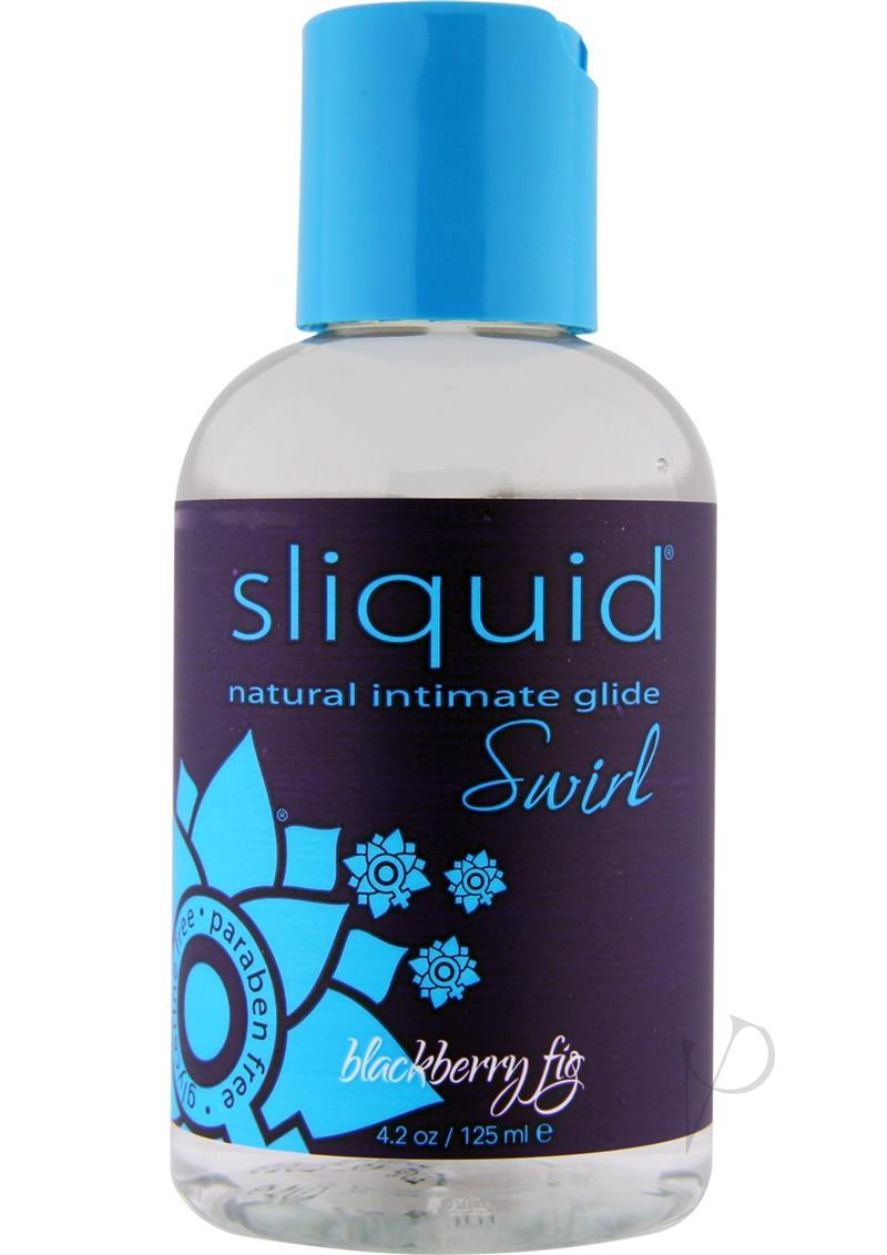 Sliquid Natural Intimate Glide Swirl Water Based Flavored Lube Blackberry Fig 4.2 Ounce