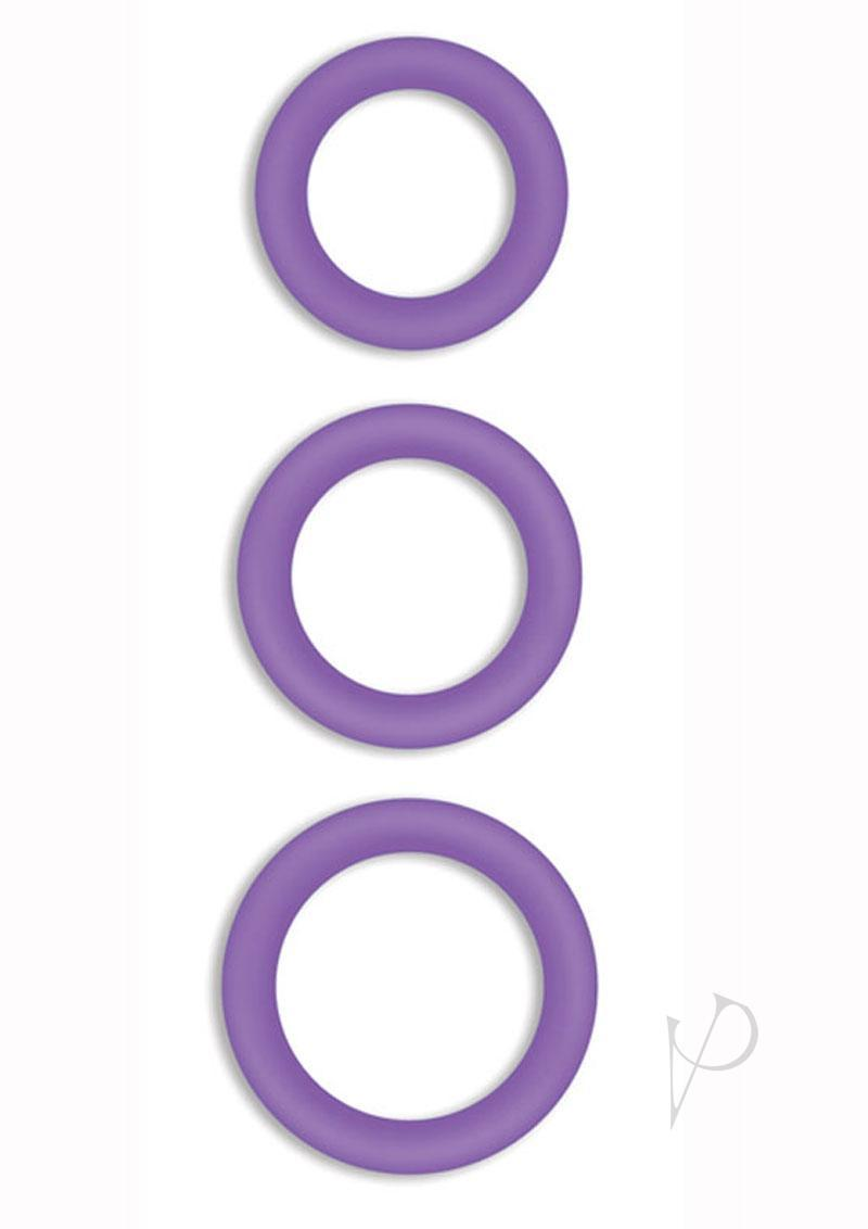 Firefly Halo Silicone Cock Ring Purple Large