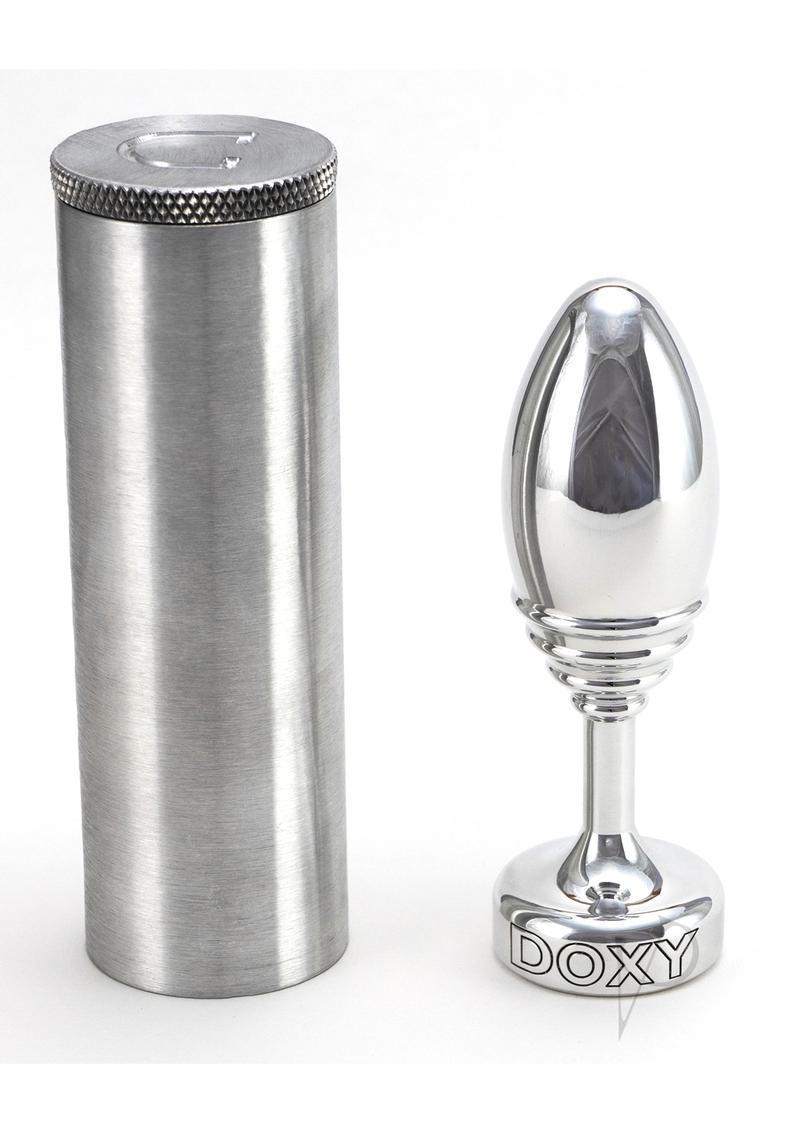 Doxy Ribbed Butt Plug Metal Non Vibrating